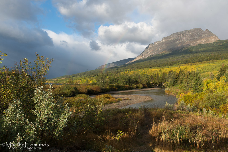 Hint of a Rainbow Entering Glacier National Park