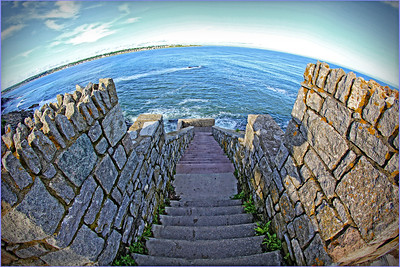 Steps at Newport Cliff Walk