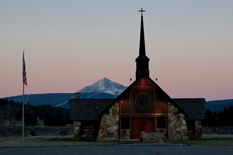 Veteran's Church. West Yellowstone, Montana