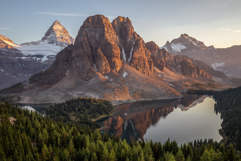 Mt Assiniboine and Sunburst Peak Sunset