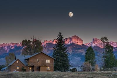 Moon over Cimarron Mountains