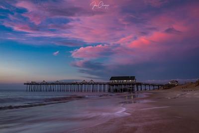 """Sunrise at Kitty Hawk Pier"""