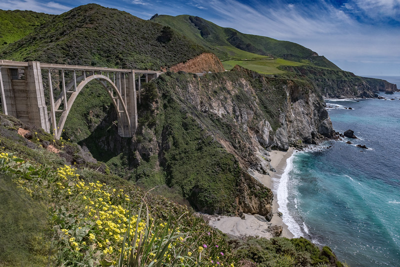 Bixby Creek Bridge, Pacific Coast Highway, California