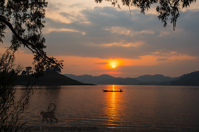 Canoe Sunset - Lake Mutanda