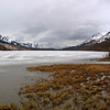 Frozen lake between Anchorage and Sewart, Alaska