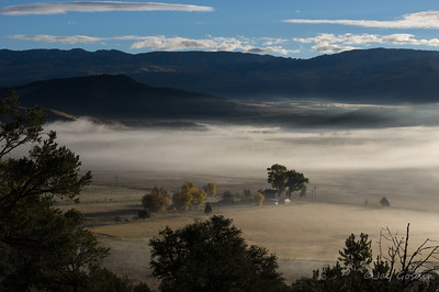 Morning Fog- Ridgway, Colorado