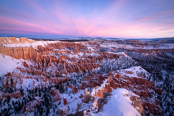 New Year's Sunrise at Bryce Canyon