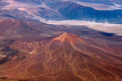Flying northern Chile Flying into the Atacama desert, northern Chile