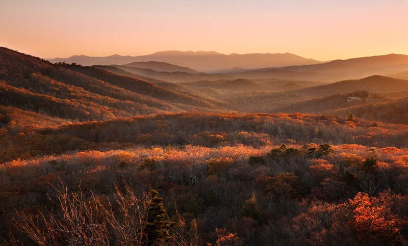 Blue Ridge Layers at Sunset