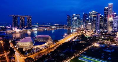 Singapore Harbour and Skyline
