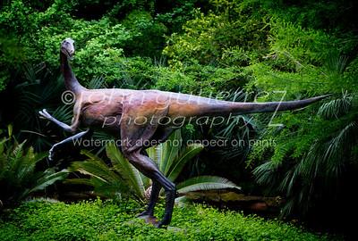 Dino statue Zilker Botonical Garden-1