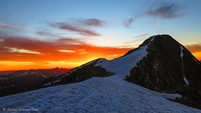 Spring Sunset on Treasury Mountain....Elk Mountains, CO