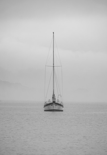 Sometimes all you need is a boat and some fog