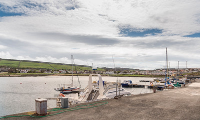 Maidens Harbour and Village Near Girvan Scotland.