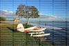 Seaplane parked and ready to takeoff at Wooten Park in Tavares, Florida, USA.