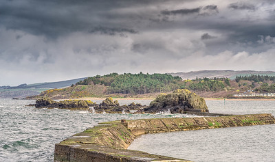 The Ancient Harbour Wall and Sea Defences Maidens Scotland