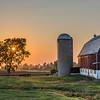 KM1410 - Calumet County Sun Setting on Wisconsin Barn