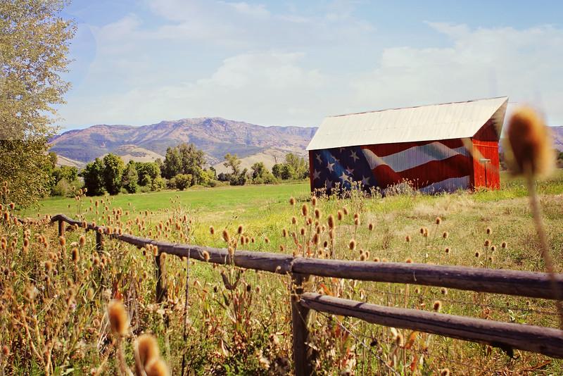 Patriotic Barn- Huntsville, Utah