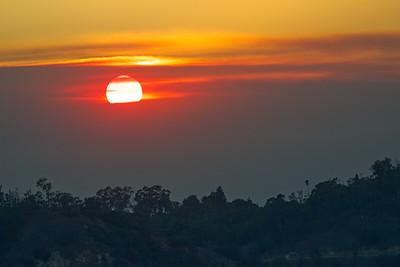 Wildfire Smoke at Sunset