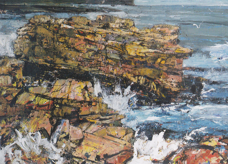 Peter McLaren, Skipi Geo, Orkney, Oil on Board 60 x 48 inches