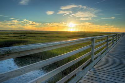 Sunset over the Marshlands