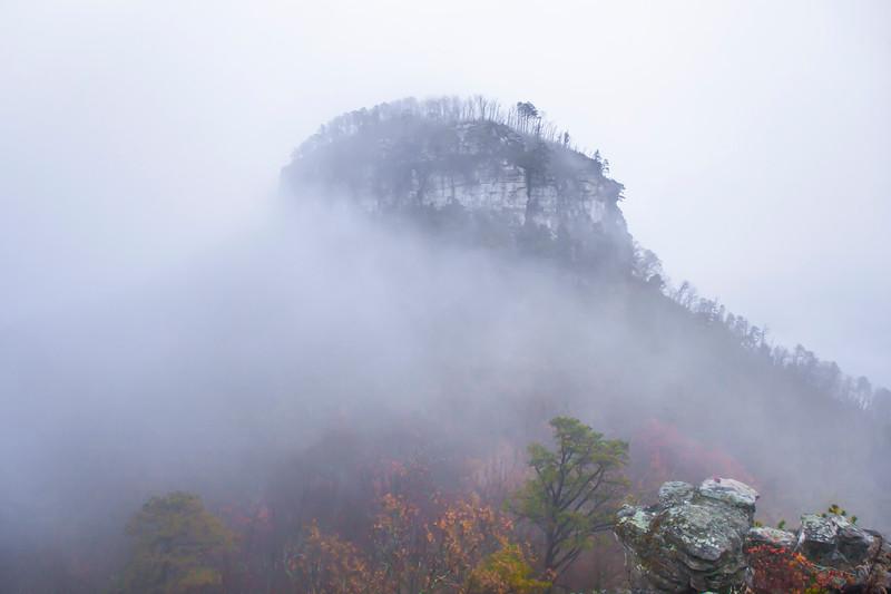 Foggy Pilot Mountain
