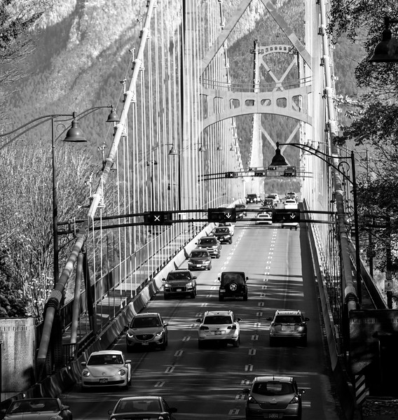 The Lions Gate Bridge, Vancouver, BC