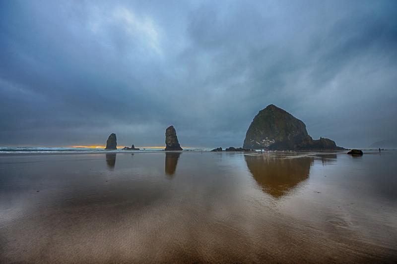 Cannon Beach Reflection, Oregon Coast