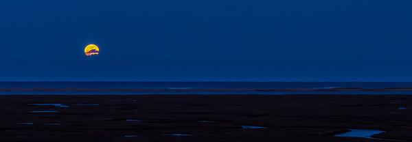 Full Moonrise at Fort Hill