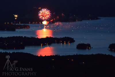 Lake Sunapee Fireworks 2017 3