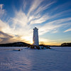 Loon Island Light Susburst