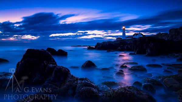 Portland Head Light Blue Hour
