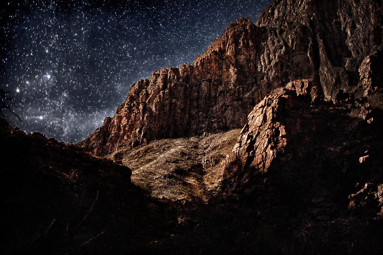 "<a>""Midnight at Big Bend National Park""</a><a><br>Augen, 2013</a>"