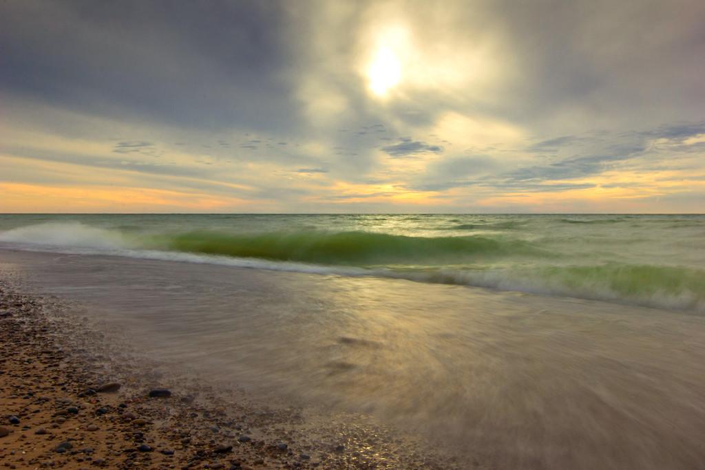 Waves at Lake Michigan