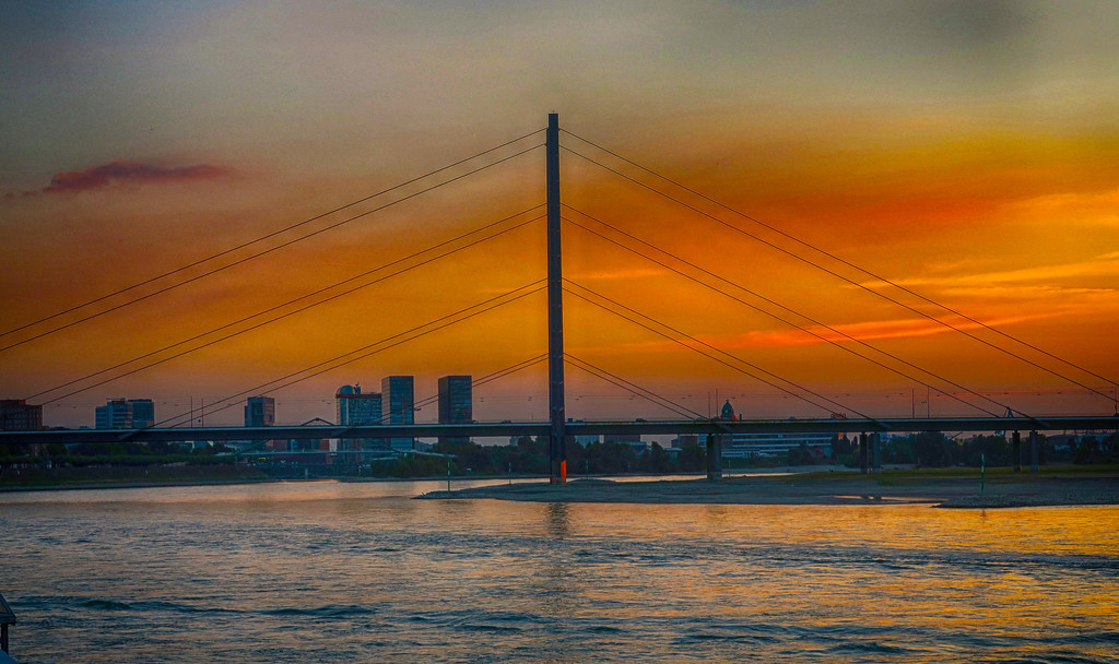 Bridge on the Rhine River