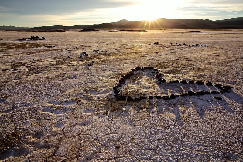 Alkali Heart #2. Nevada Desert, East Of Reno