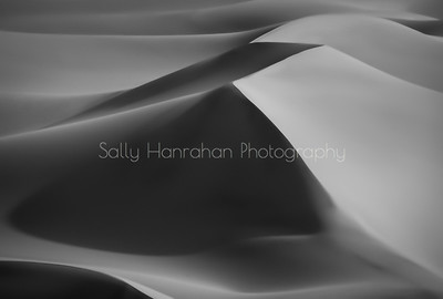 Death Valley Dunes Sunrise-Black and White