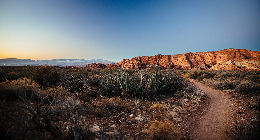 snow canyon sunrise
