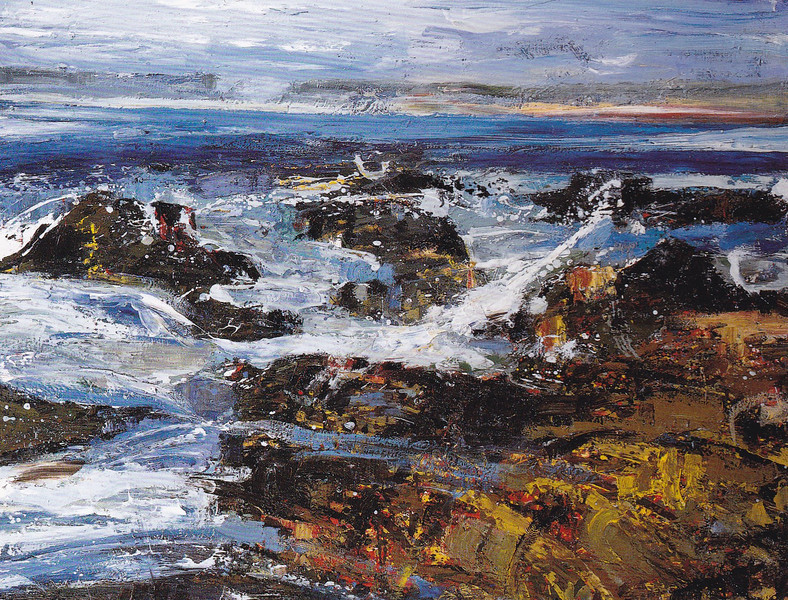 Peter McLaren, Skipi Geo, Orkney. Oil on Board, 48 x 36 inches