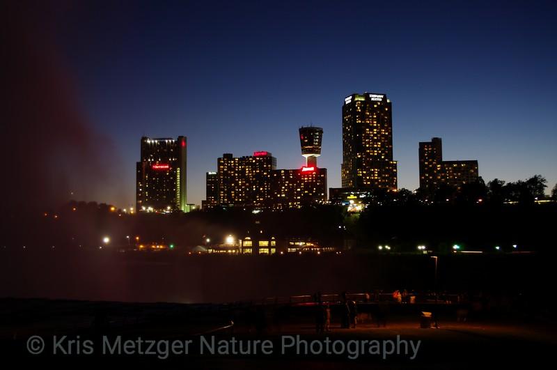 """Niagara At Night""  Niagara Falls, Ontario Canada skyline above the Horseshoe Falls and Niagara River."