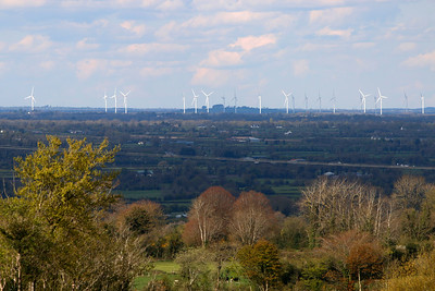 Mount Lucas Wind Turbines viewed from Slieve Bloom  Picture© Niall O'Mara 30th April 2018 - niallomara@me.com