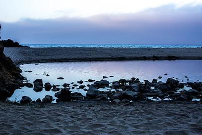 Central California Coast at Dusk