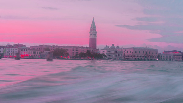 Venezia Campanile e Canal Grande, Italia.