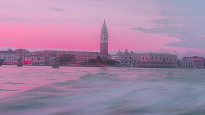 Venezia Campanile e Canal Grande, Veneto.