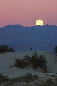 Moon set, Death Valley, Ca