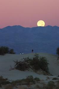 Moon set, Death Valley, Ca