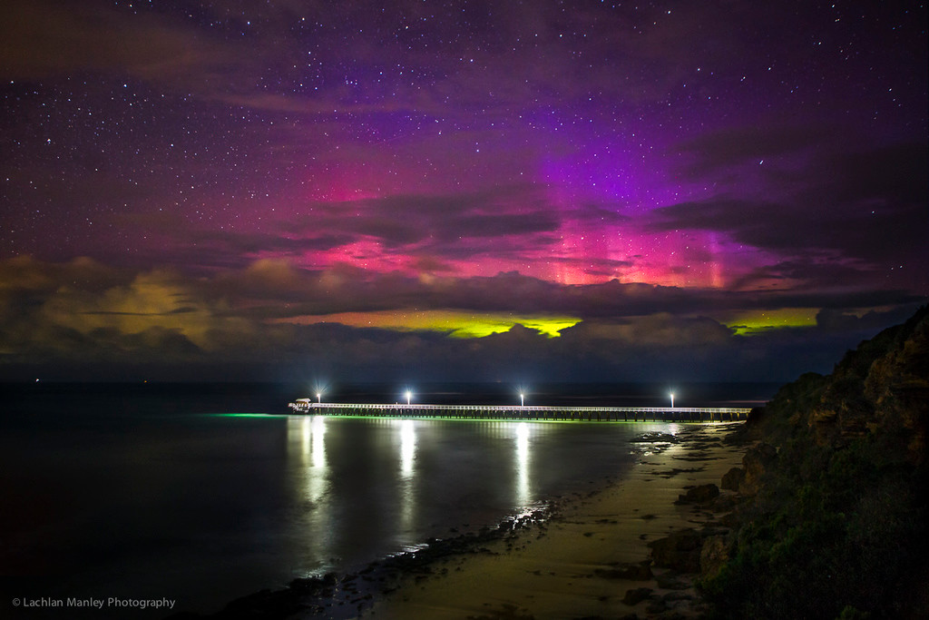 Point Lonsdale Pier Aurora CME , 28 May 2017