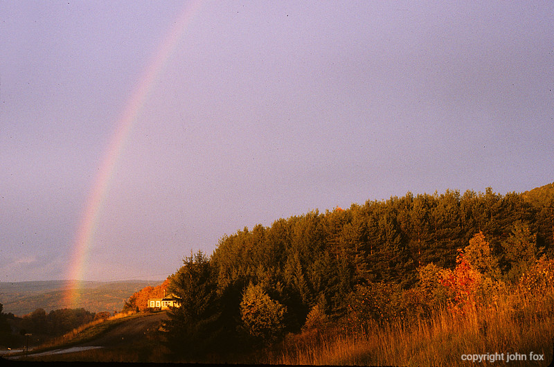 Landscape with House and Rainbow