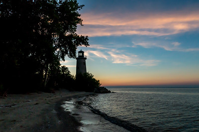 Pelee Island Lighthouse at Sunset