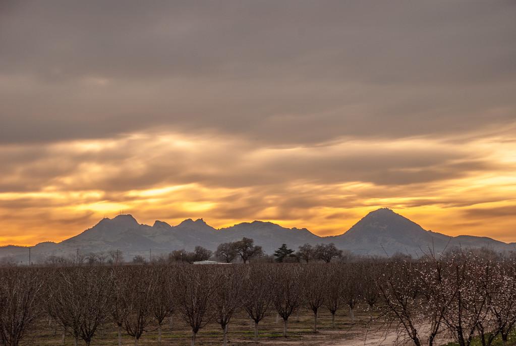 Golden Sunset over Sutter Butte